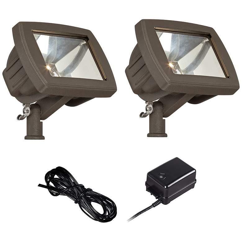 Bronze LED Flood Light Landscape Kit