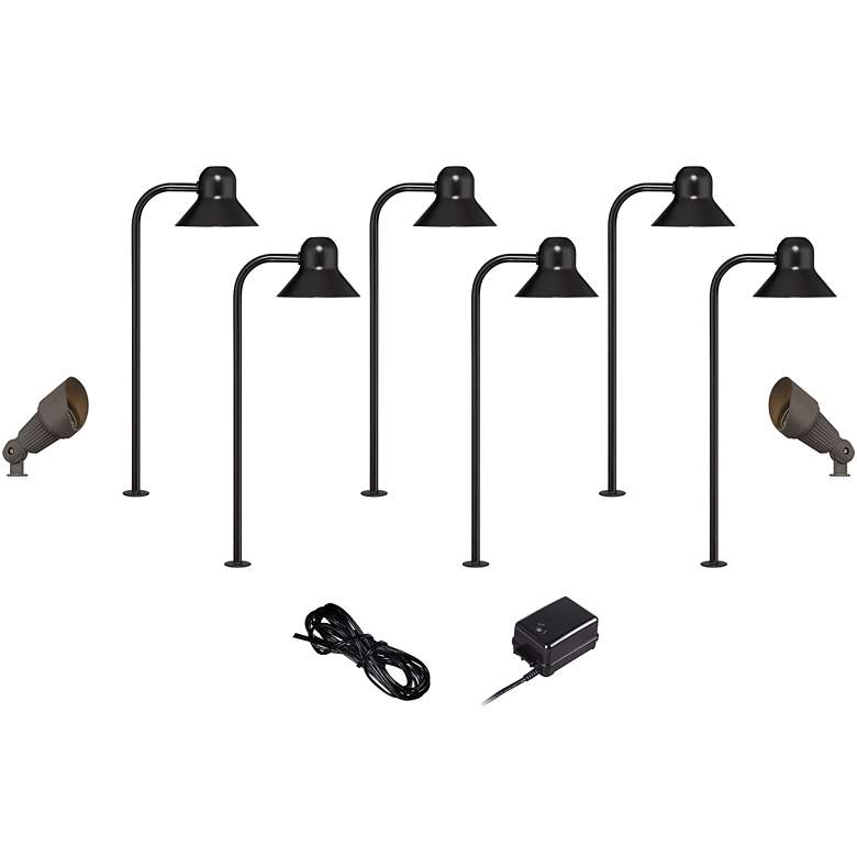 LED 10-Piece Landscape Set with Path and Bronze