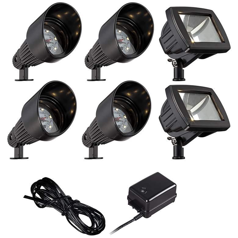 Black LED Bronze Spot and Path Light Landscape Kit