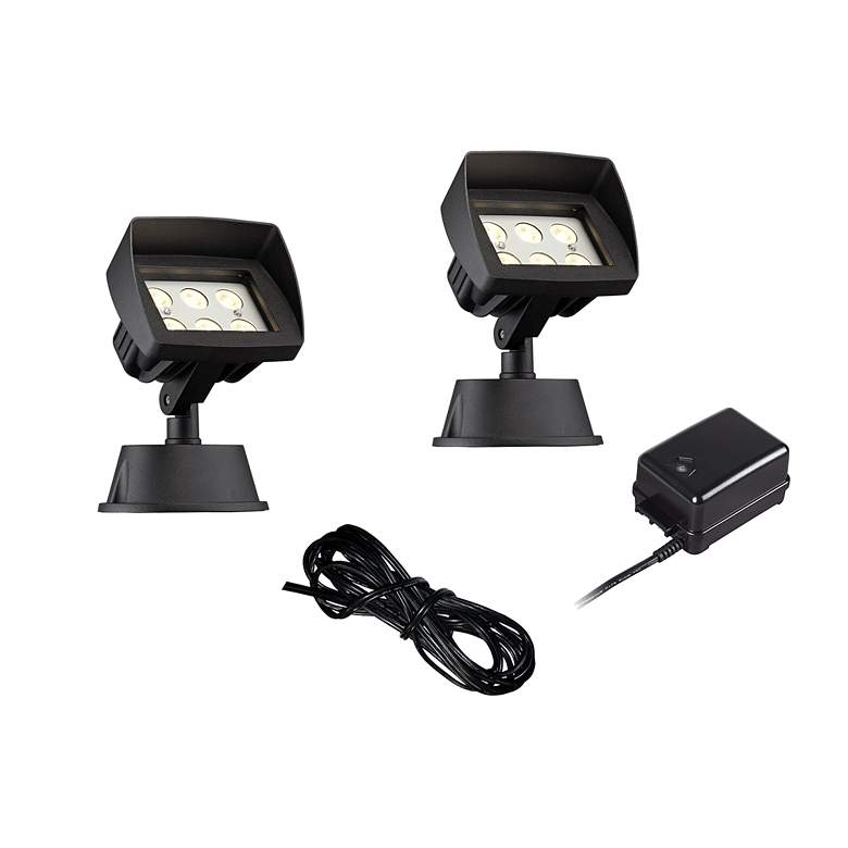 Super Duty Eastham Black 4-Piece LED Landscape Lighting