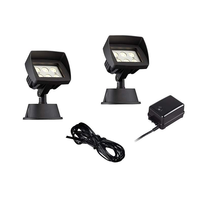 Super Duty Eastham Black 4-Piece LED Landscape Lighting Set