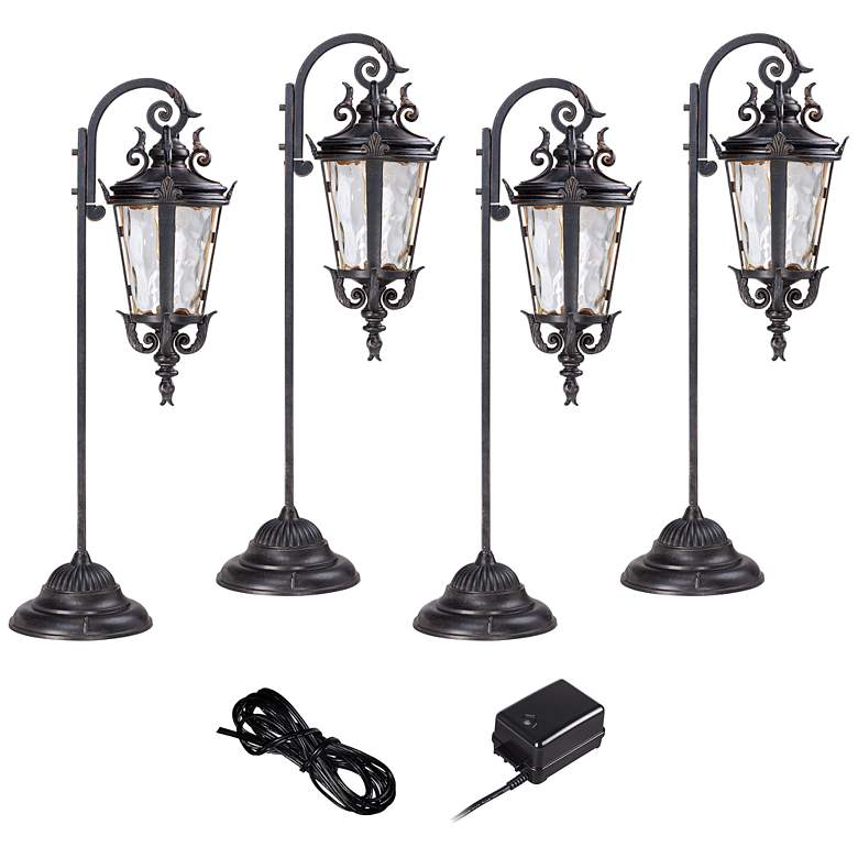 Casa Marseille Bronze 6-Piece LED Landscape Light Kit