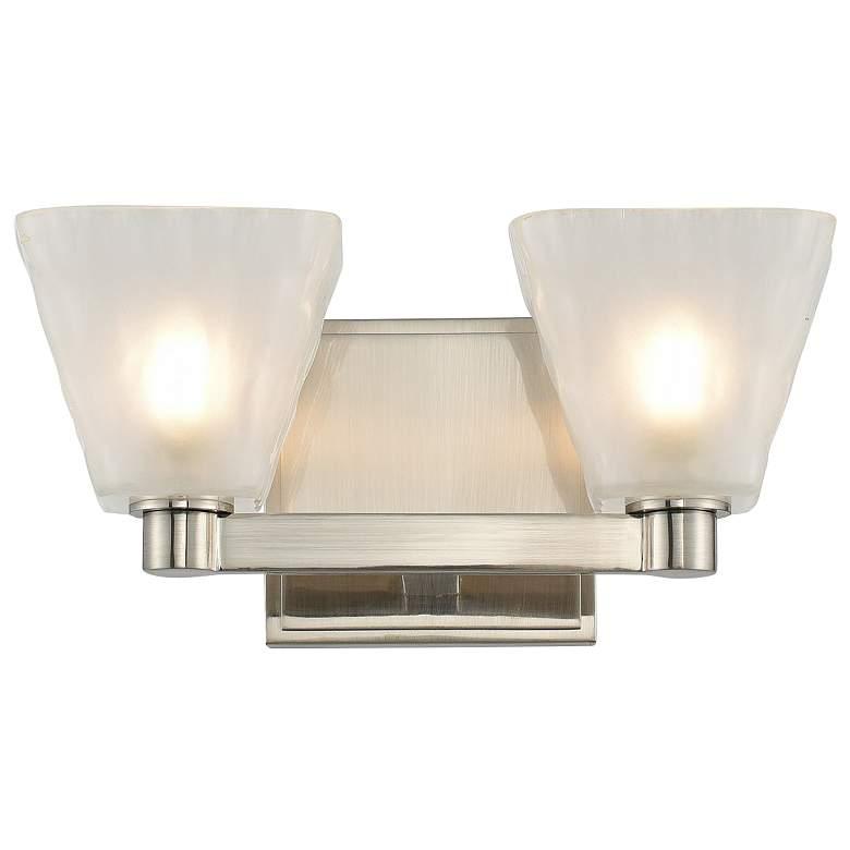 """Kalco Weston 5"""" High Glazed Nickel 2-Light LED Wall Sconce"""