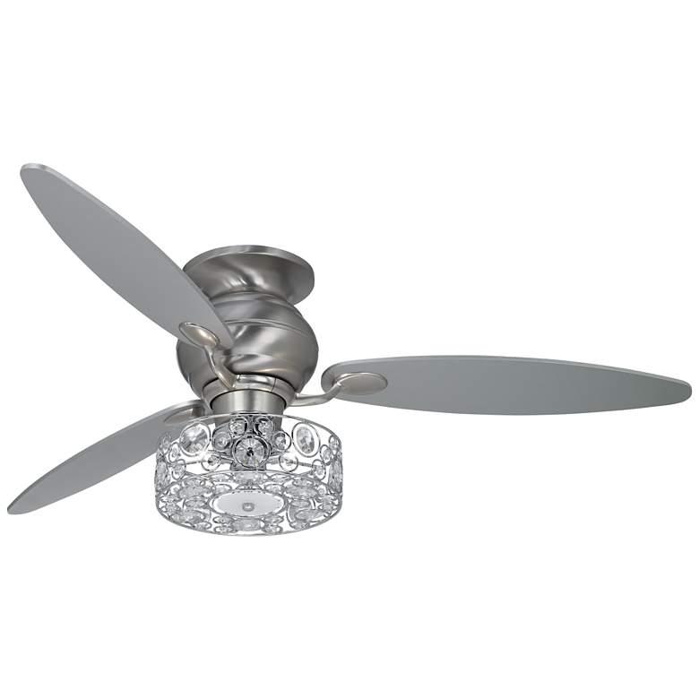 "60"" Spyder Crystal Circles LED Hugger Ceiling Fan"