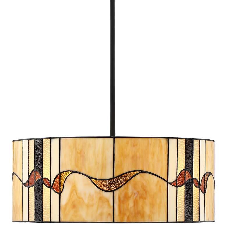 "Robert Louis Tiffany Perth 20"" Wide Bronze 4-Light Pendant"