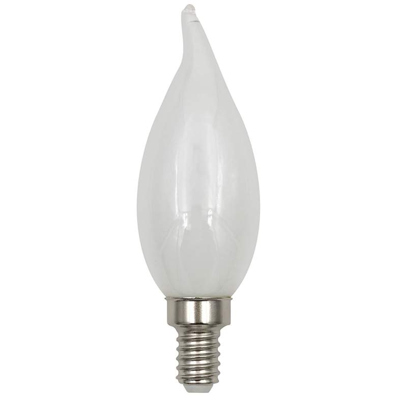 60W Equivalent Milky 6W LED Dimmable Flame Tip Candelabra