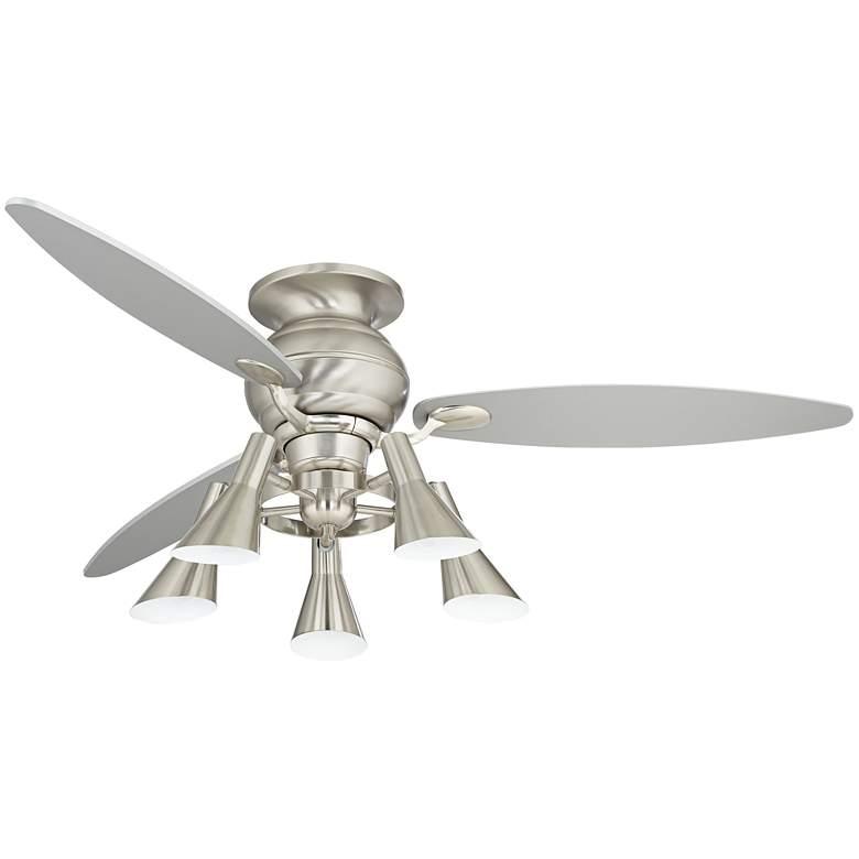 """60"""" Spyder Hugger Silver Retro 5-Light LED Ceiling Fan"""