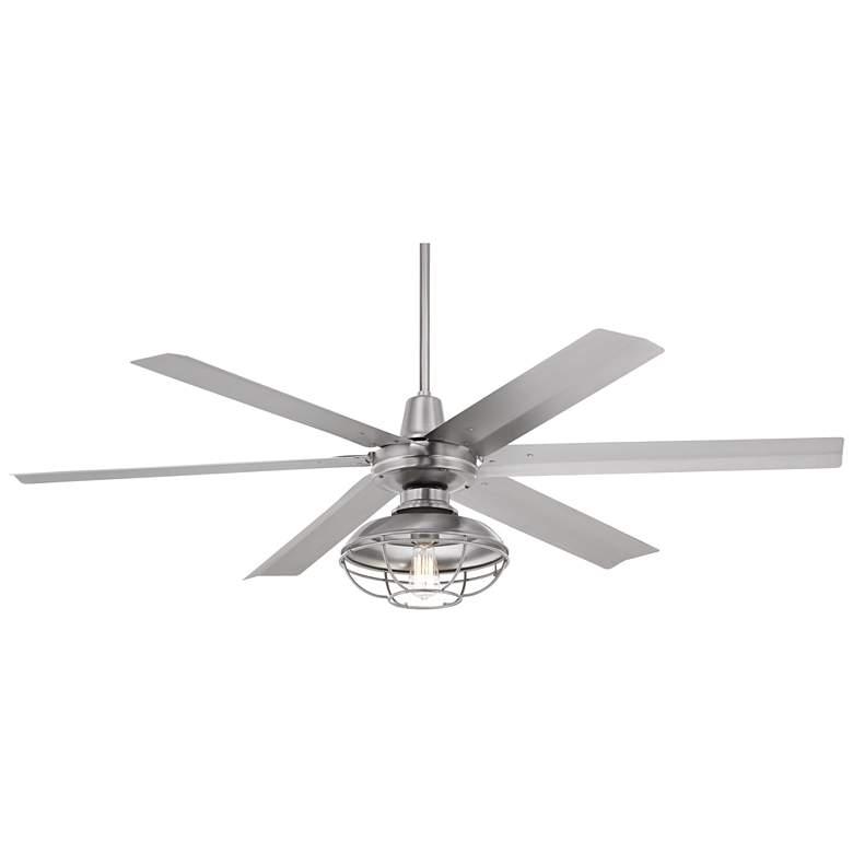 "60"" Turbina Max™ AC Franklin Park Damp LED Ceiling Fan"