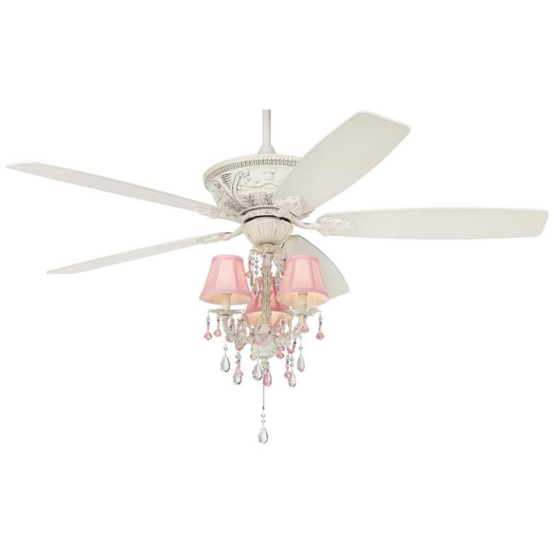"""60"""" Casa Vieja Montego Pretty In Pink Kit LED Ceiling Fan"""