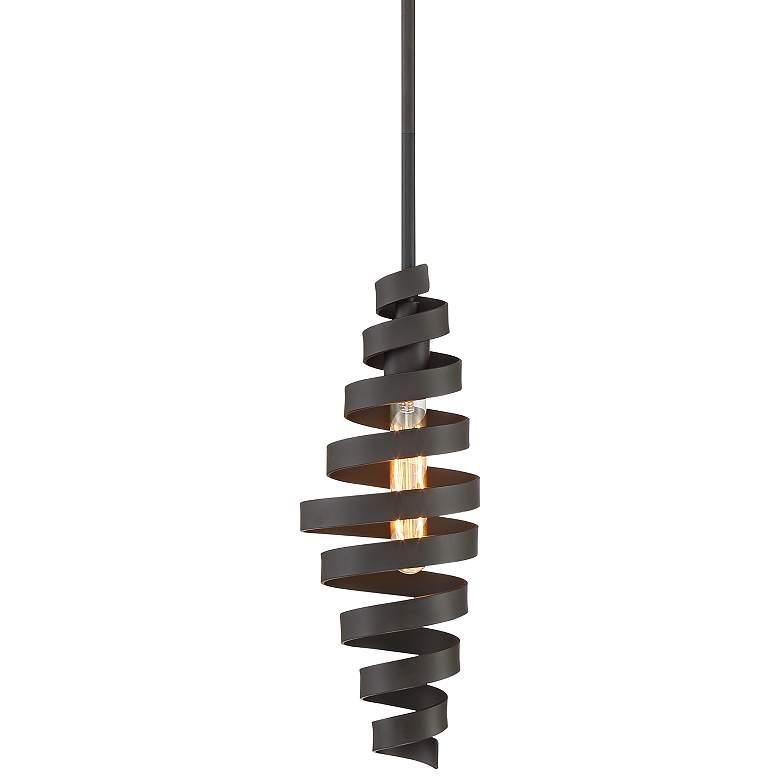 """Possini Euro Marlo 6"""" Wide Bronze Spirals Mini Pendant Light"""