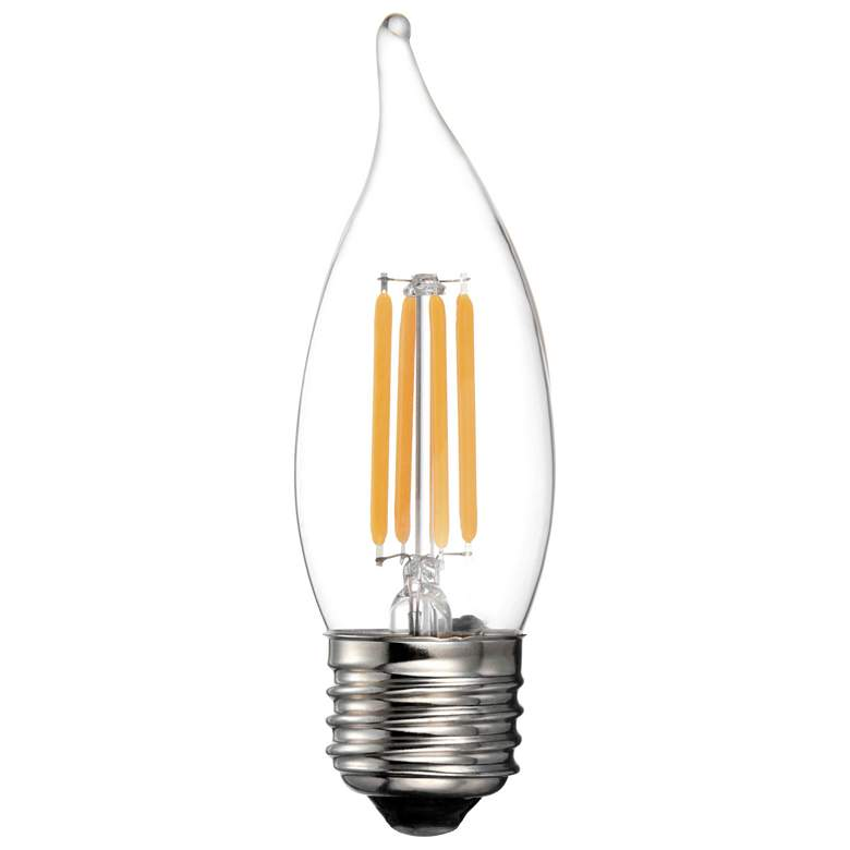 60W Equivalent Clear 5.5W LED Dimmable Filament Flame