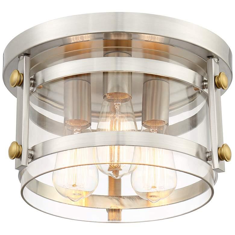 """Eagleton 13 1/2"""" Wide Brushed Nickel LED Ceiling Light"""