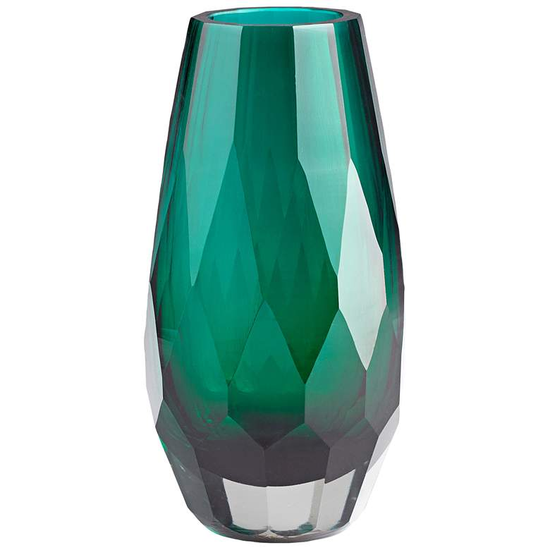 "Cyan Design Gordon Green 9 1/4"" High Large Glass Vase"