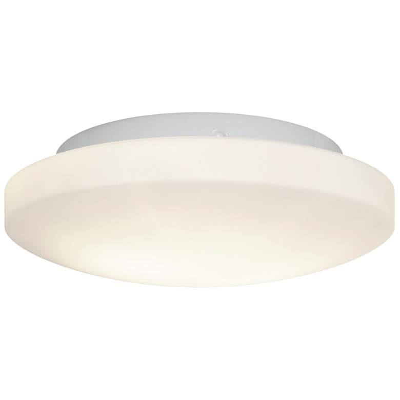 """Orion 10 3/4"""" Wide White Ceiling Light with Opal Shade"""
