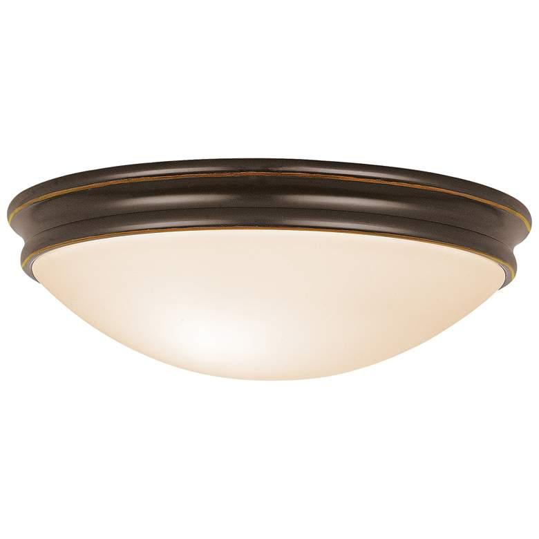 "Atom 10 1/2""W Oil-Rubbed Bronze Ceiling Light w/ Opal Shade"