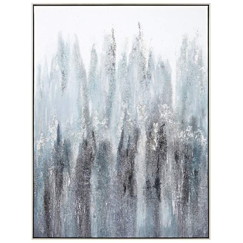 "Entranced 48"" High Oil Painting Framed Canvas Wall"