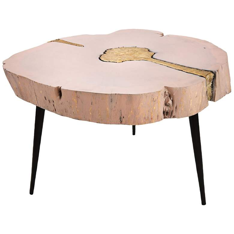 Timber Pink and Brass Wooden Cocktail Table