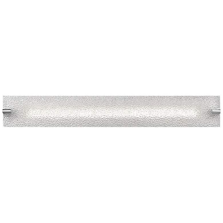 "Blaze 28 1/4"" Wide Chrome Water Glass LED Bath Light"