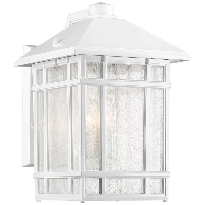 "J du J Sierra Craftsman 15"" High White Outdoor Wall Light"