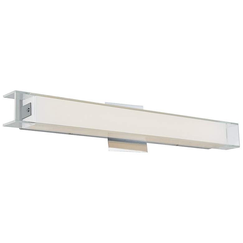 "Mist 22 1/2"" Wide Chrome Frosted Glass LED Bath Light"