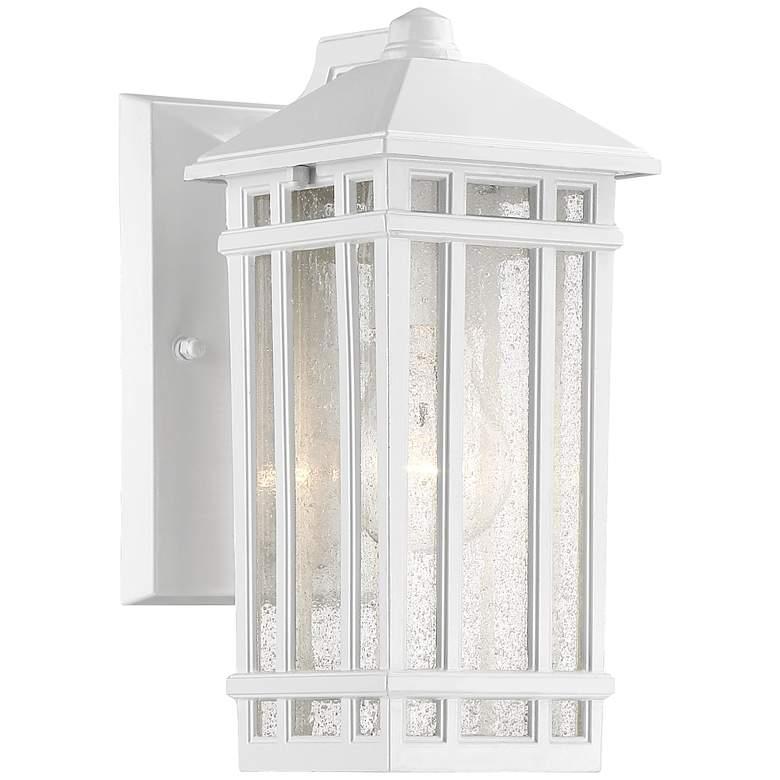 "J du J Sierra Craftsman 10"" High White Outdoor Wall Light"