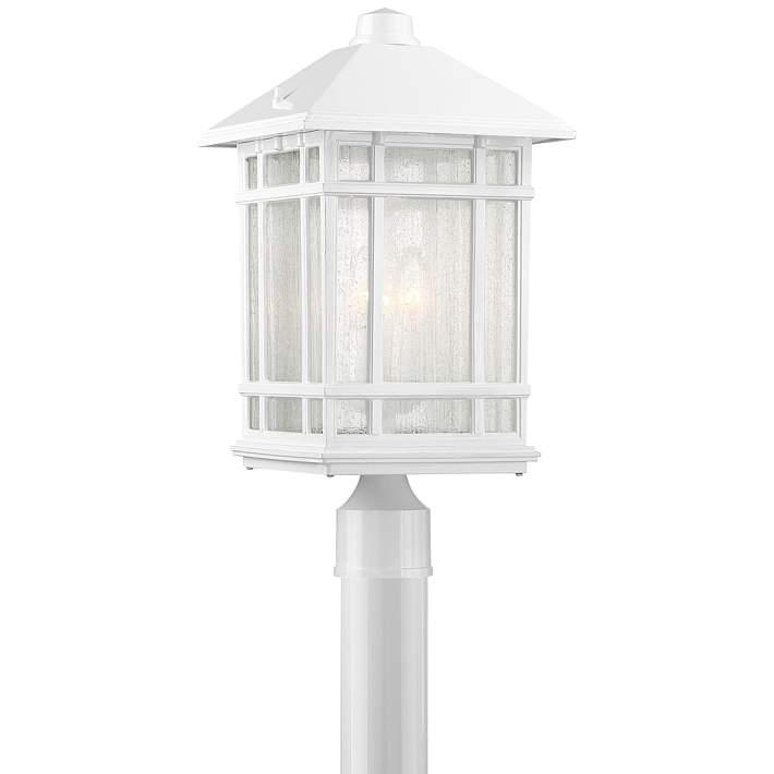 J Du J Sierra Craftsman 18 H White Outdoor Post Mount Light 64t68 Lamps Plus