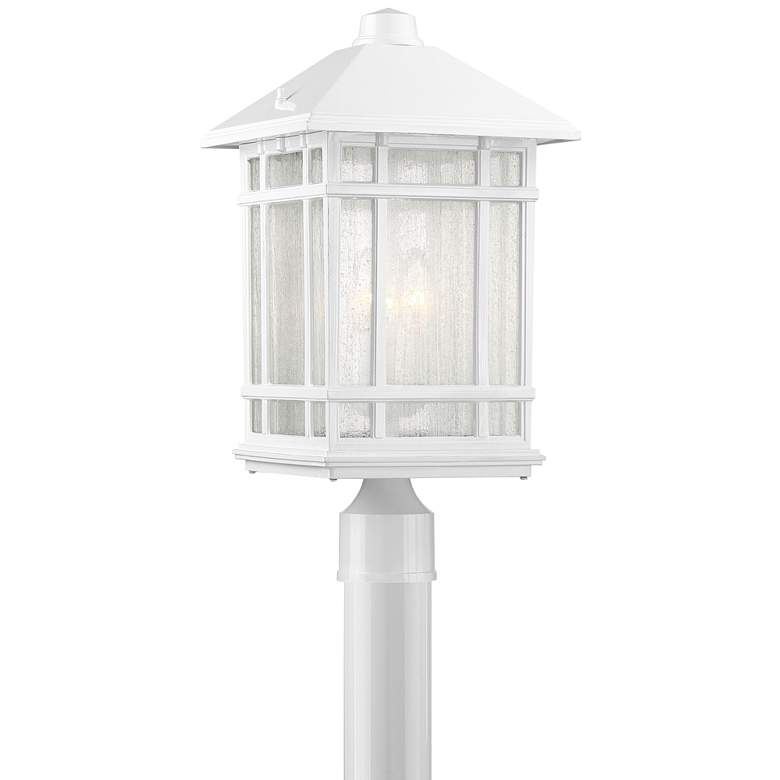 "J du J Sierra Craftsman 18""H White Outdoor Post Mount Light"