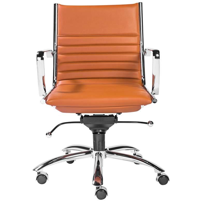 Dirk Cognac Leatherette Low Back Adjustable Office Chair