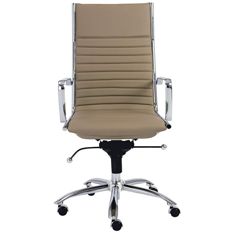 Dirk Taupe Leatherette High Back Adjustable Office Chair