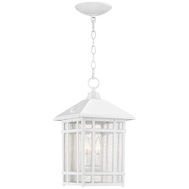 "J du J Sierra Craftsman 16 1/2""H White Outdoor Hanging Light"