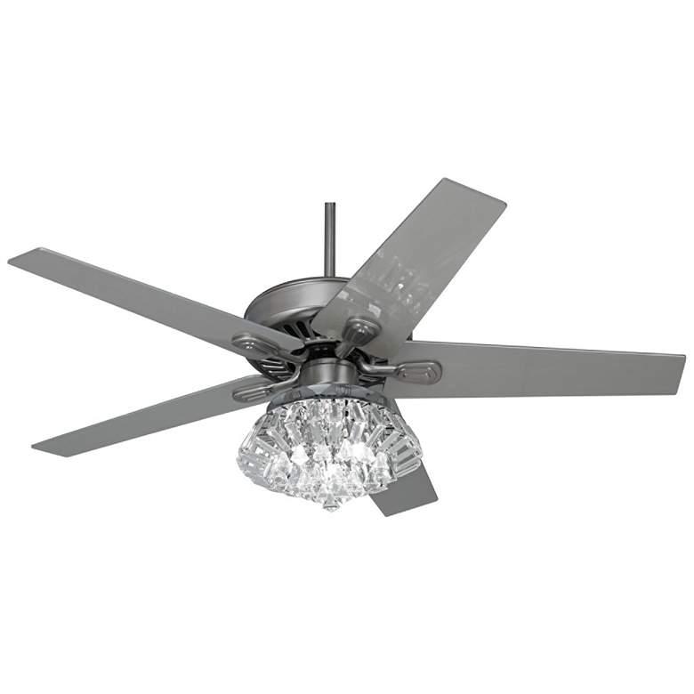 """52"""" Windstar II Brushed Steel Deco LED Ceiling Fan"""