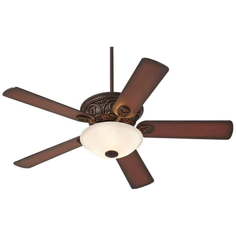 "52"" Casa Contessa™ Bronze and Fluted Glass Ceiling Fan"