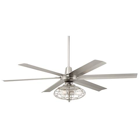 "60"" Turbina Max™ Brushed Nickel LED Ceiling Fan"