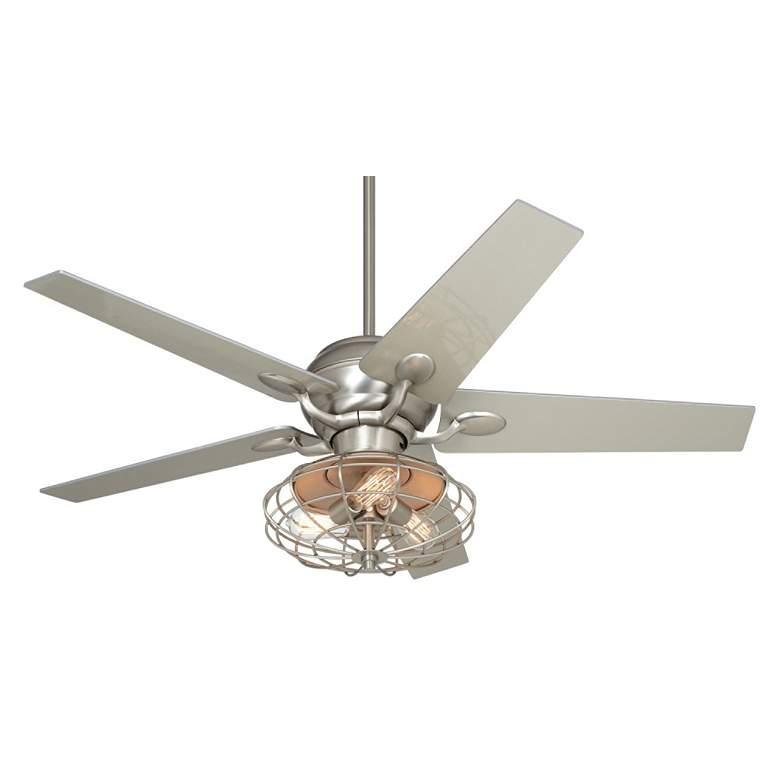 """52"""" Casa Optima™ Brushed Nickel LED Ceiling"""