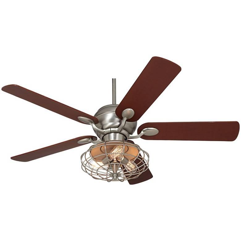 "52"" Casa Optima™ Brushed Nickel LED Ceiling Fan"