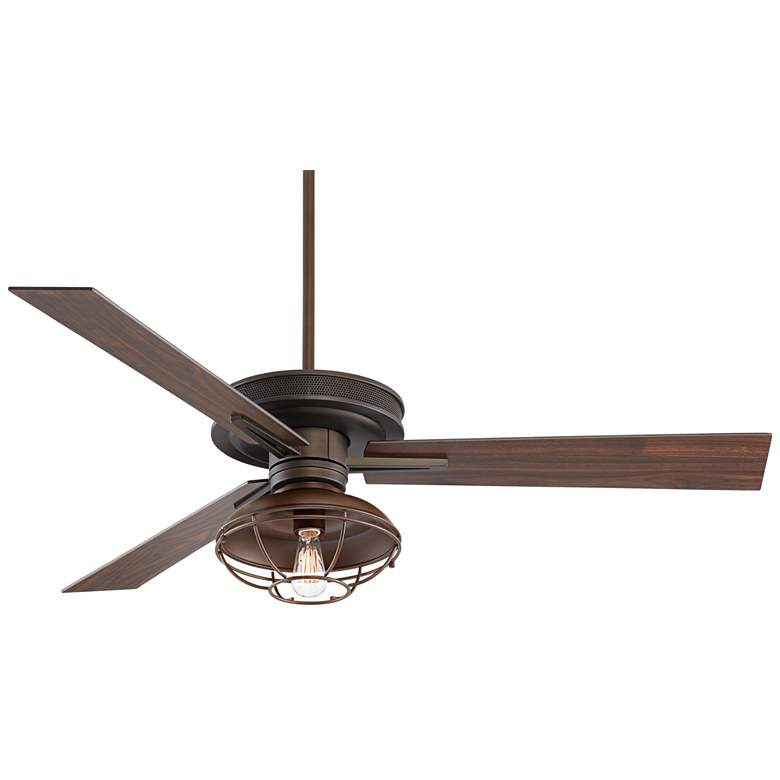 "60"" Taladega Franklin Park Bronze Damp Rated Ceiling Fan"