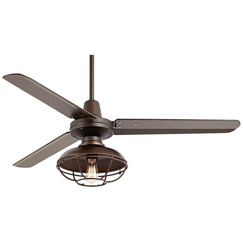 """52"""" Plaza DC Franklin Park Bronze Damp LED Ceiling Fan"""
