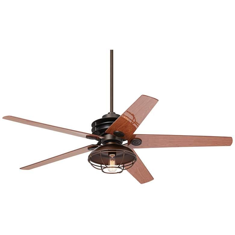 "60"" Casa Venue LED Bronze Damp Ceiling Fan"