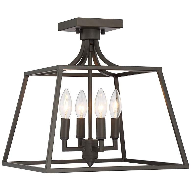 """Torin 14"""" Wide Bronze 4-Light Ceiling Light"""