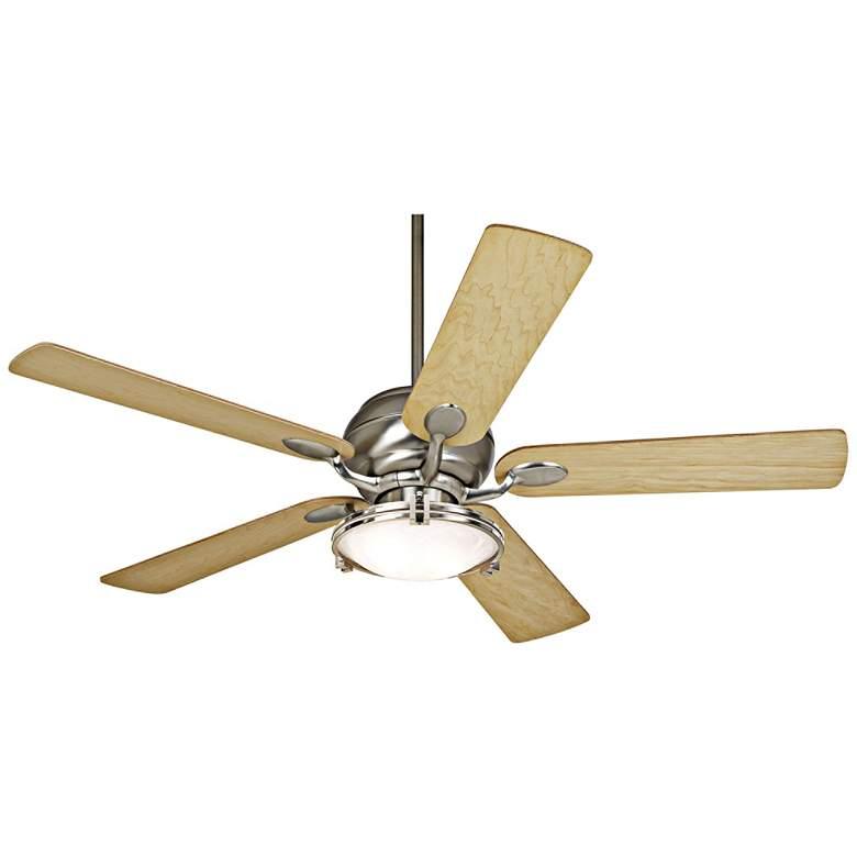 "52"" Casa Vieja Casa Optima Brushed Nickel LED Ceiling Fan"