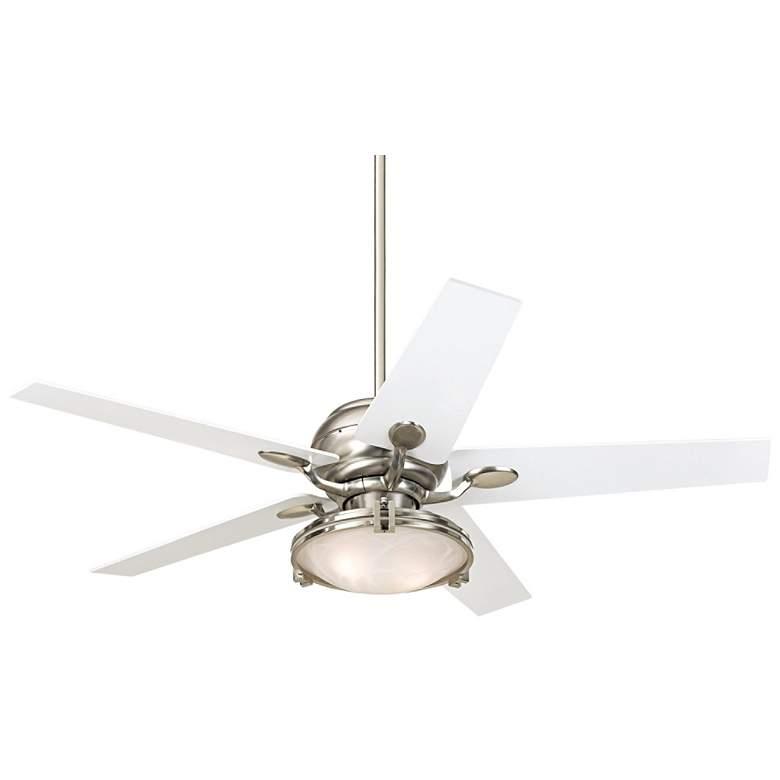 52' Casa Optima™ Tapered White Blade Ceiling Fan W/ Remote
