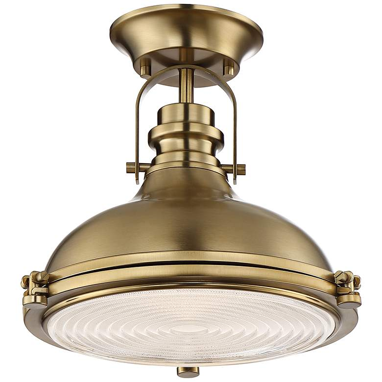 "Verndale 11 3/4"" Wide Antique Brass Dome Ceiling Light"