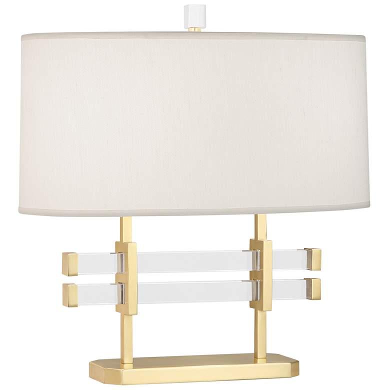 """Robert Abbey Plexus 18 1/4""""H Modern Brass Accent Table Lamp"""
