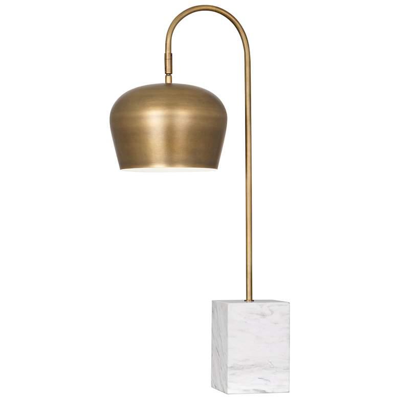Rico Espinet Bumper Warm Brass Metal Arc Desk Lamp