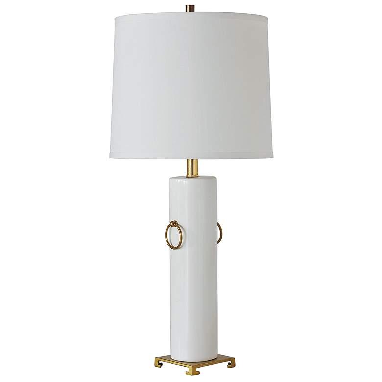 Port 68 Beverly Cream White Porcelain Table Lamp