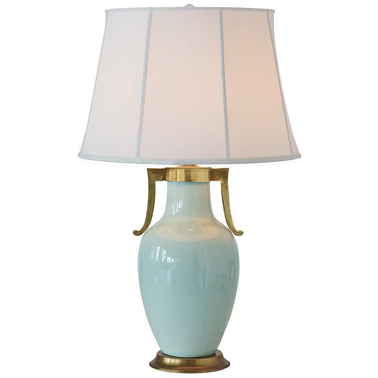 Port 68 Glenda Celadon Porcelain Vase Table Lamp