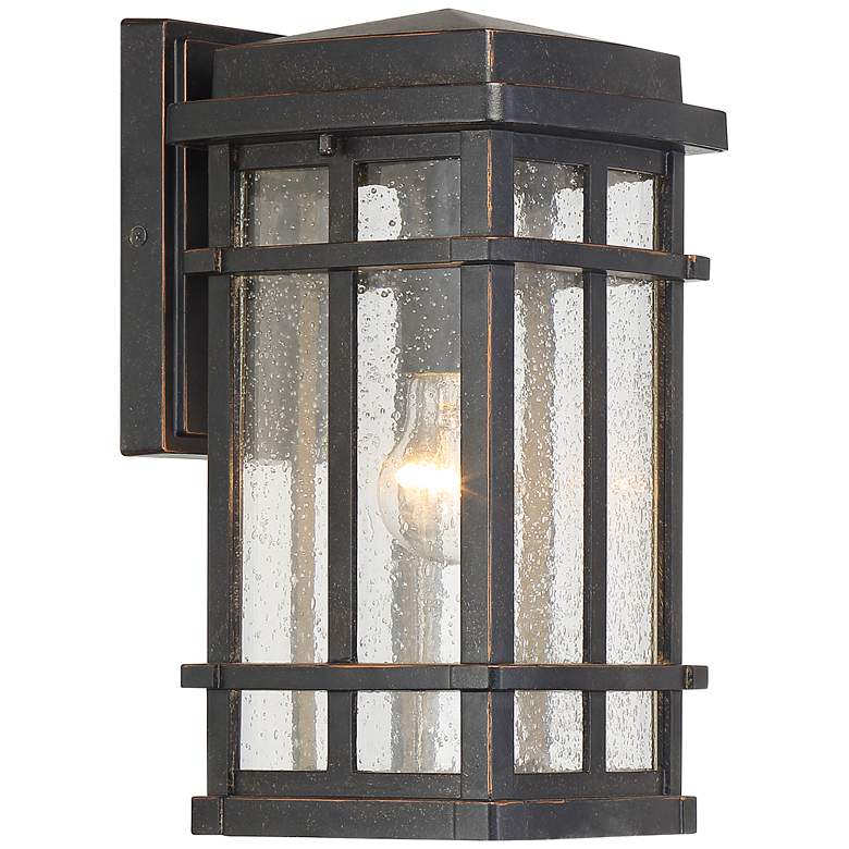 """Neri 12 1/2""""H Mission Oil-Rubbed Bronze Outdoor Wall Light"""