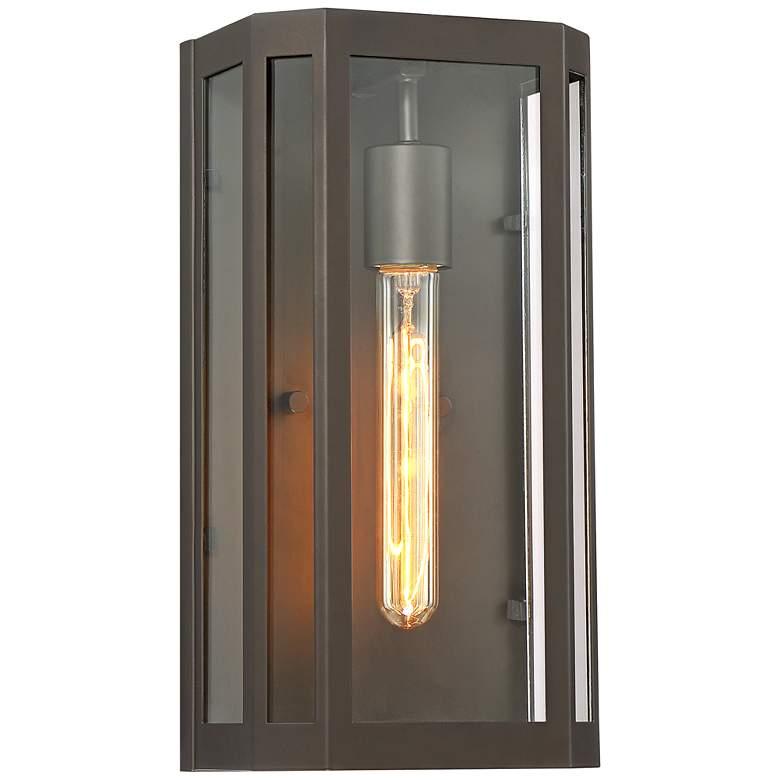 "Trystan 13"" High Bronze and Glass Outdoor Wall Light"