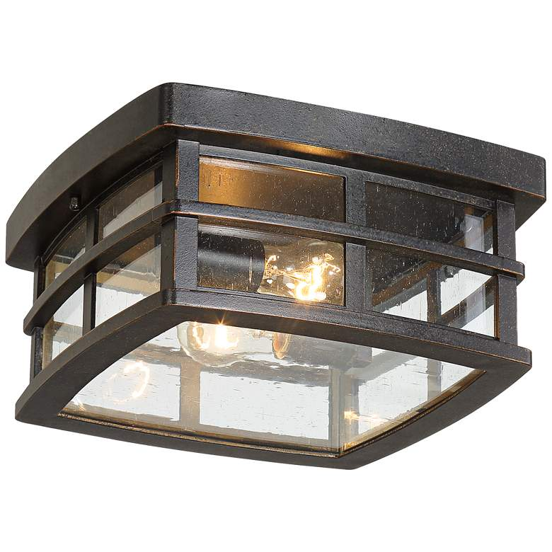 "Neri 12"" Wide Oil-Rubbed Bronze Outdoor Ceiling Light"