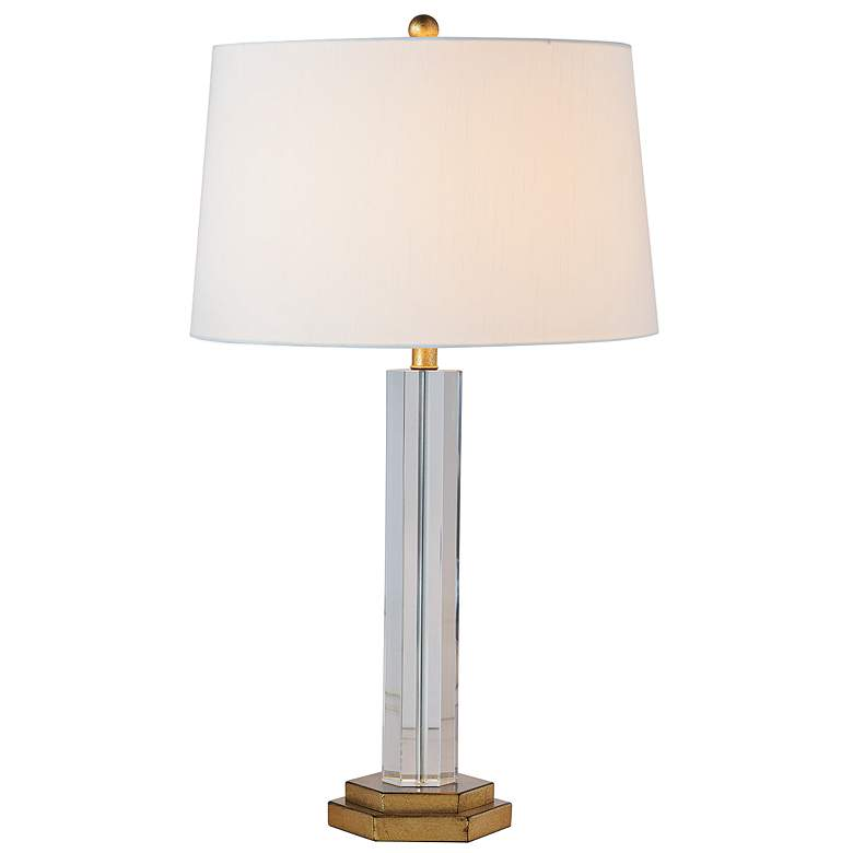 Port 68 James Crystal Column Table Lamp